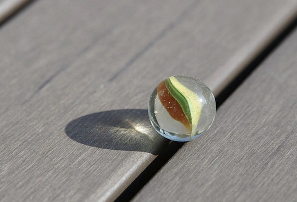 Marble Toy Shadow Gumshoe Glass Marble Glass Cut-g