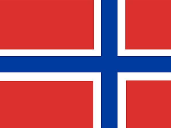 Norway Standard Scandinavian Flag Symbol Cross Irr