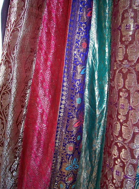 Sari Cloth Drapes Hangings Fabric India Curtain Dr