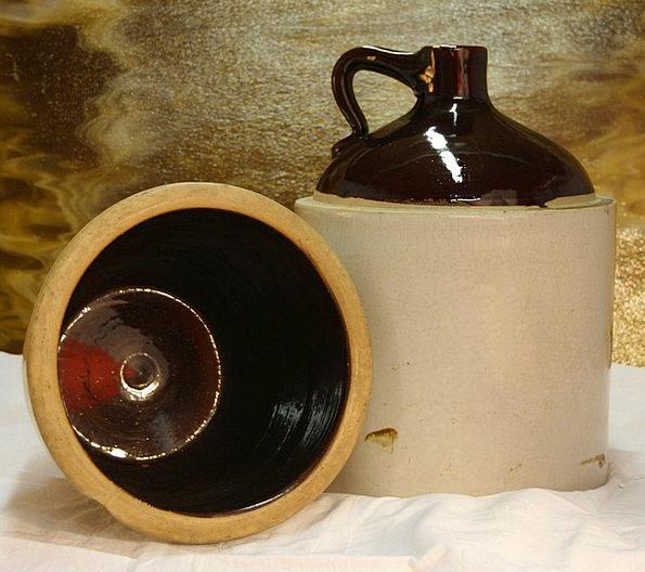 Crocks Alcohol Whiskey Bootleg Corn Goo Booze Jar
