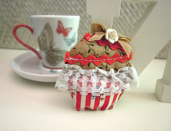Brooch Badge Cloth Crafts Skills Fabric Cupcake Bl