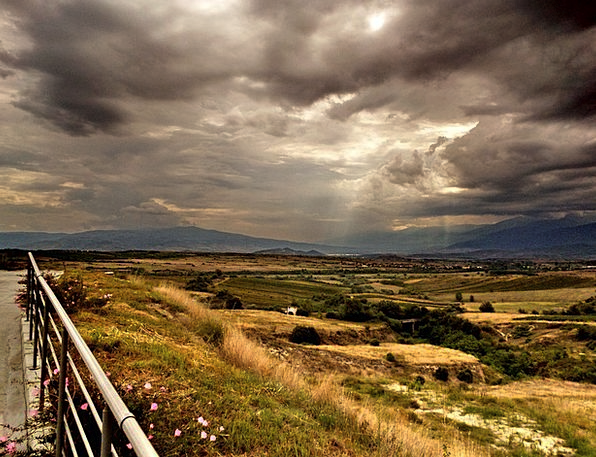 Thunderstorm Storm Landscapes Countryside Nature C
