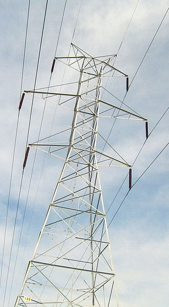 Pylon Tower Electronic Wires Ropes Electric Cables