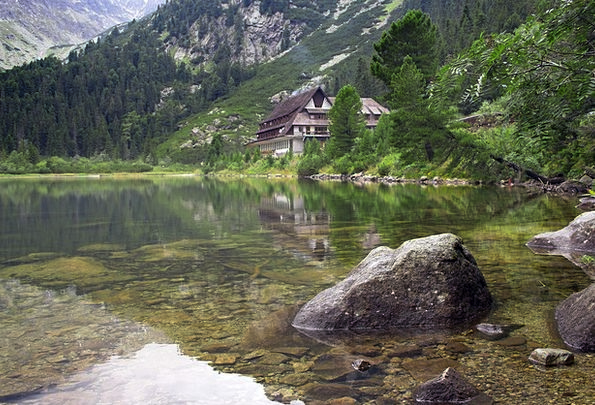 Chalet Cabin Tall Slovakia High Stone Pebble Lake