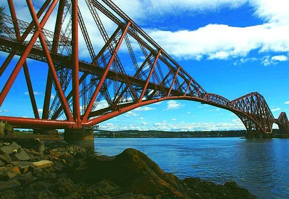 Forth Rail Bridge Monuments Strengthen Places Brid