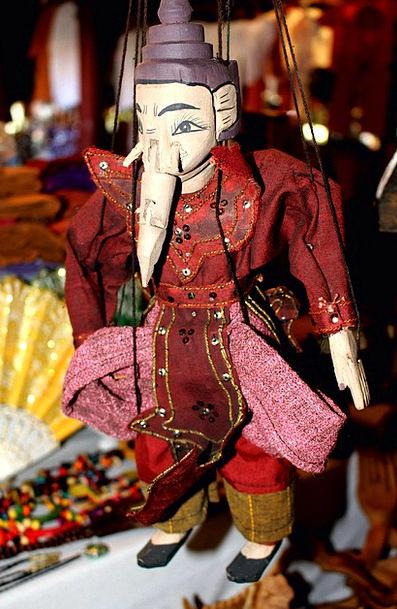 Ganesha Monster Marionette Puppet Elephant Decorat