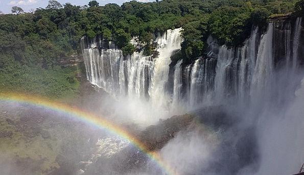 Cataracts Waterfalls Landscapes Nature Rainbow Mul