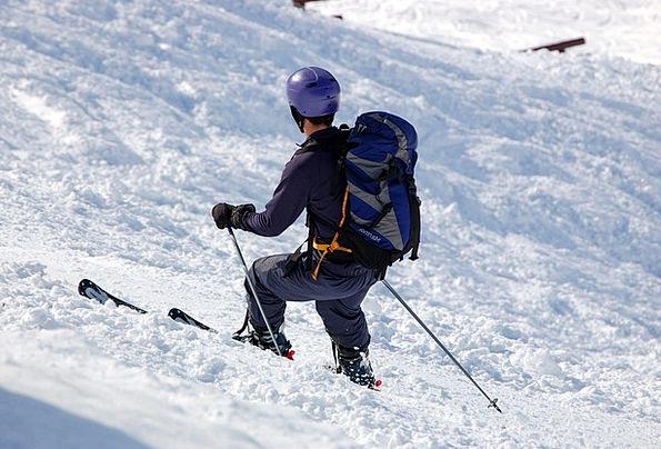Skiers Snowflake Backpack Rucksack Snow Alpine Ski