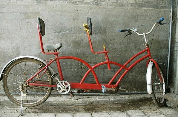 Tandem Traffic Transportation Bike Motorbike Bicyc