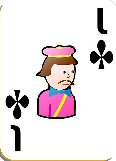 Playing Cards Knave Clubs Bats Jack Suit Outfit Fr