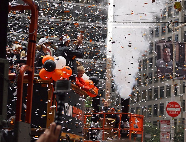 Confetti Procession San Francisco Parade Sf Giants