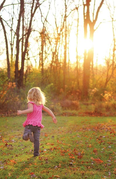 Girl Lassie Youngster Running Consecutively Child
