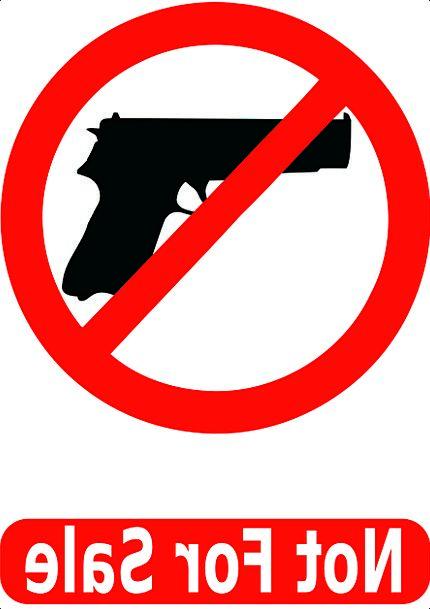 Not For Sale Unavailable Pistol Gun Revolver Weapo