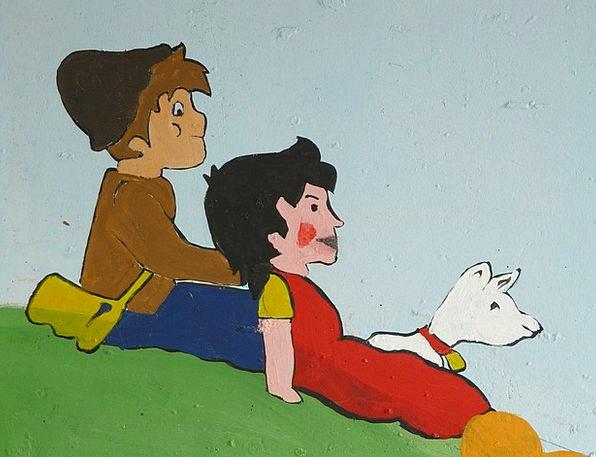 Heidi Ziegenpeter Geissenpeter Cartoon Character D