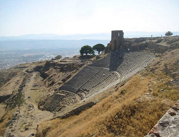 Pergamon Stadium Turkey Amphitheater Hillside Thea