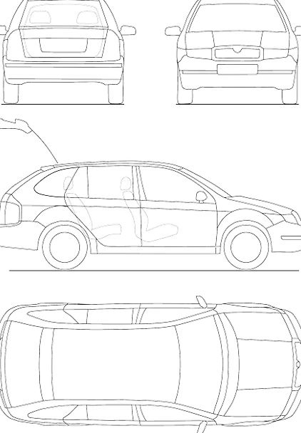 Blueprint Car Technical Practical Automobile Conce