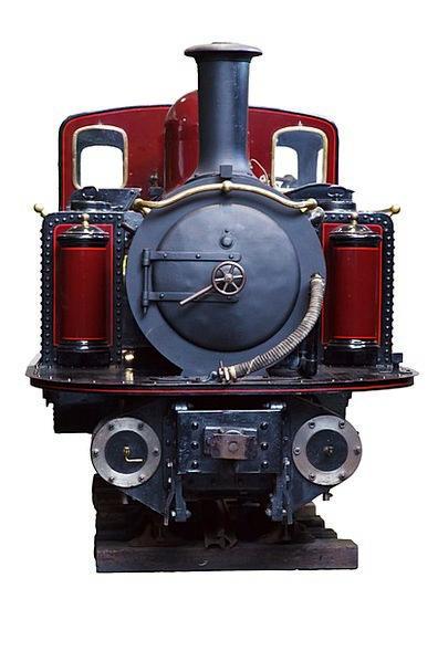 Antique Traffic Vapor Transportation Engine Train