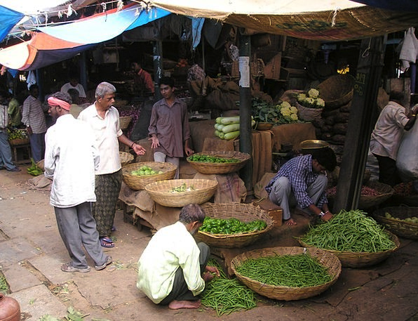 India Drink Marketplace Food Vegetables Potatoes M