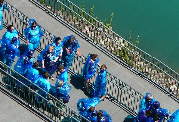 Tourists Travelers Vacation Travel Niagara Falls B