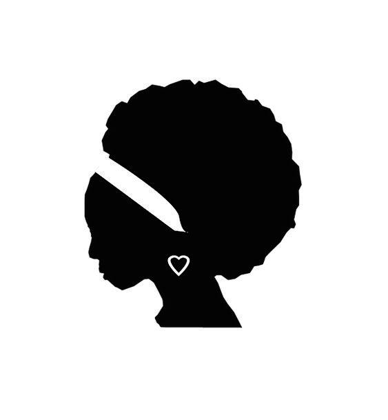 Afroamerican Fashion Lady Beauty Black And White W