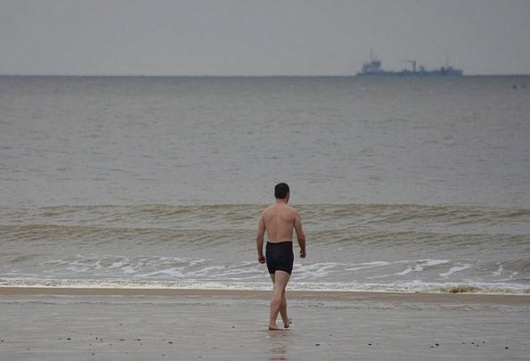 Man Gentleman Trunks Sea Marine Swimming Trunks Sw