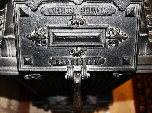Oven Kiln Close Up Shut Oven Door Old Ancient Cast