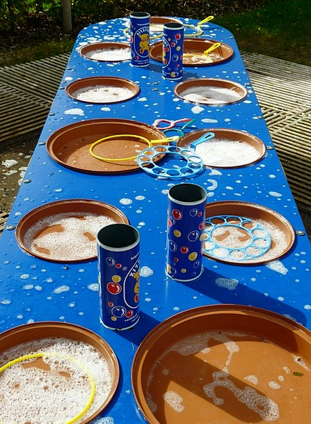 Soap Bubbles Bubble Table Bubble Production Bubble