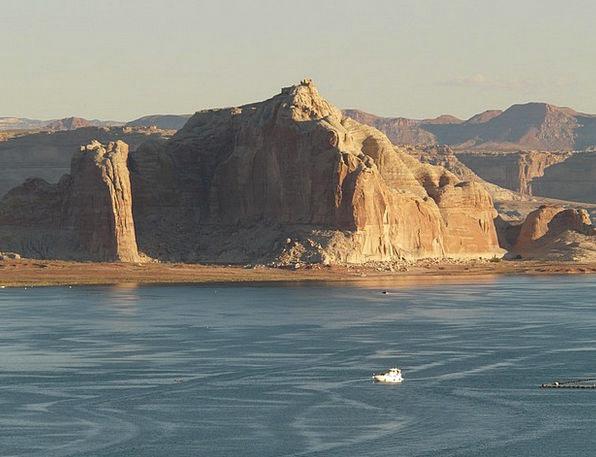 Ship Vessel Landscapes Gumboot Nature Lake Powell
