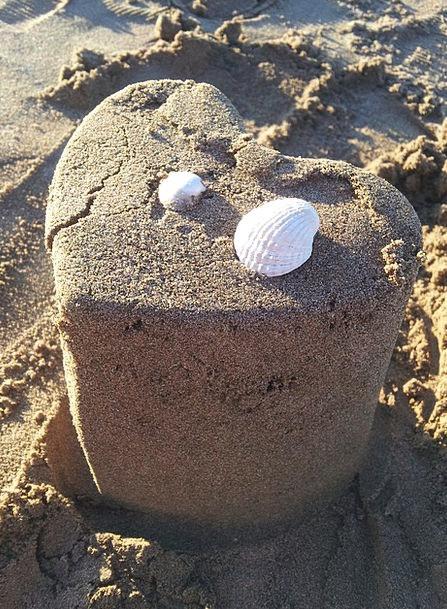 Heart Emotion Bomb Sand Shingle Shell Summer Straw