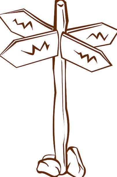 Fingerpost Crossroads Junction Guidepost Direction
