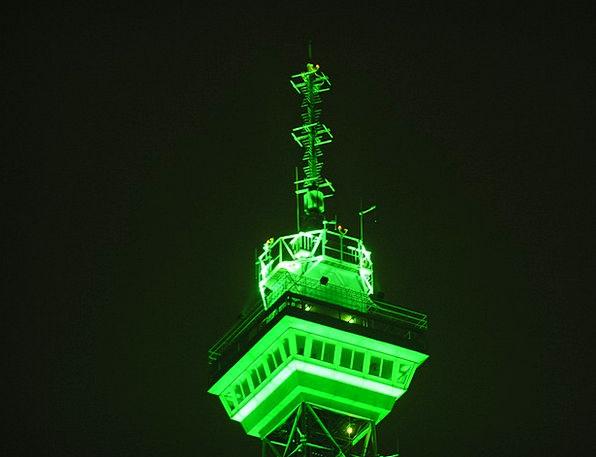 Radio Tower Countless Spire Tip Great Berlin Neon