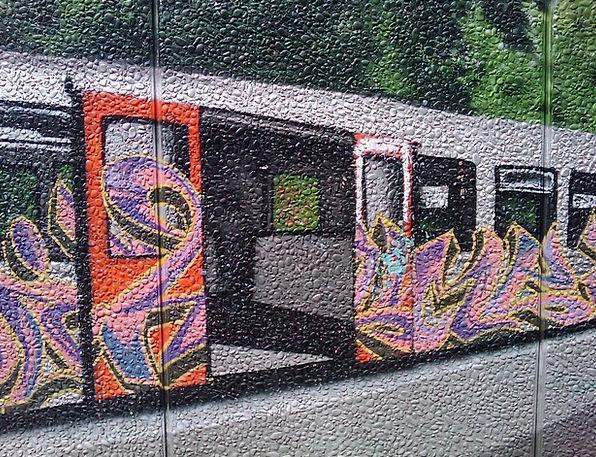 Graffiti, Drawings, Wagon, Carriage, Metro, Railway, Wall