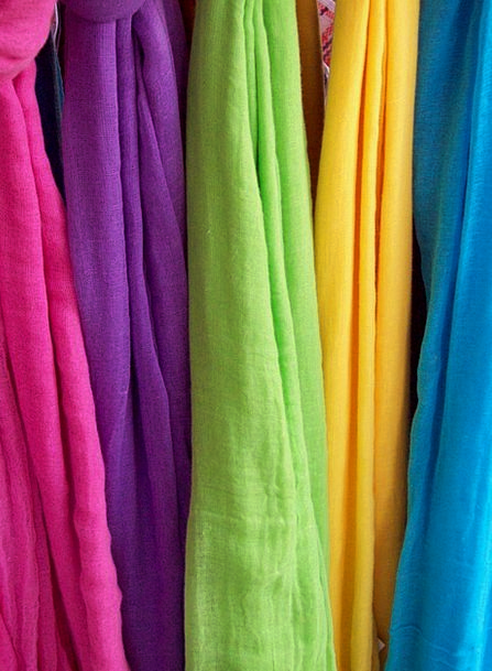 Scarves Mufflers Textures Backgrounds Rainbow Mult