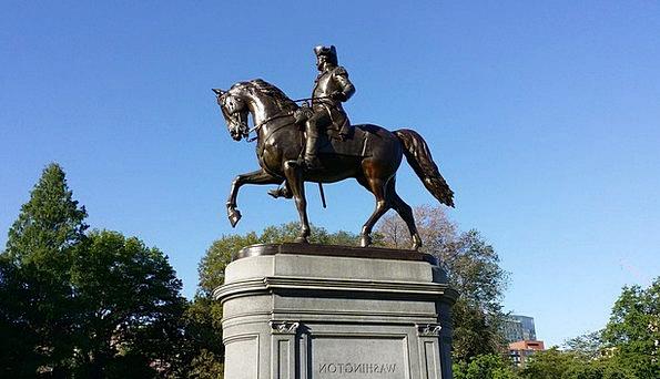 Boston Monuments Places Statue Figurine Washington