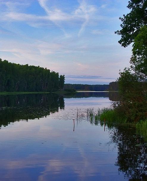 Evening Twilight Landscapes Freshwater Nature Wate