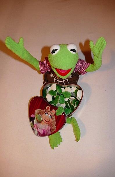 Kermit Look Forward Look ahead Frog Green Gummibär