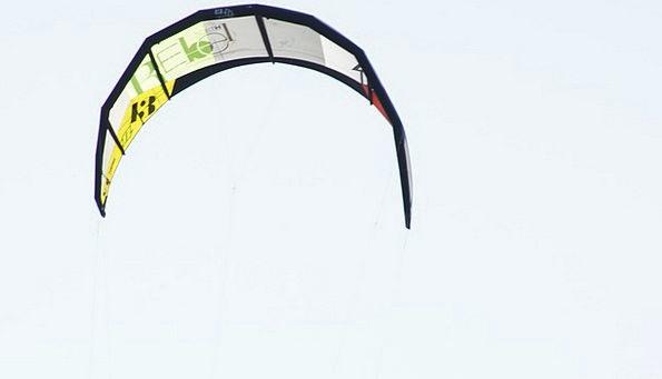 Kitesurfing Sky Blue Kite Kitesurfer Sport Sail Di