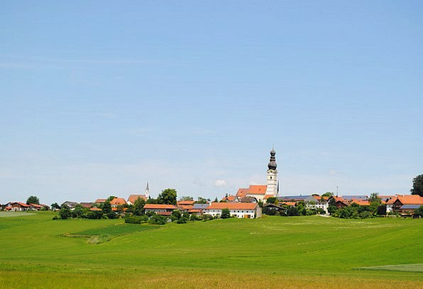 Village Community Meadow Field Upper Bavaria Place