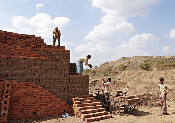 Workers Labors Buildings Architecture Brick-Laying
