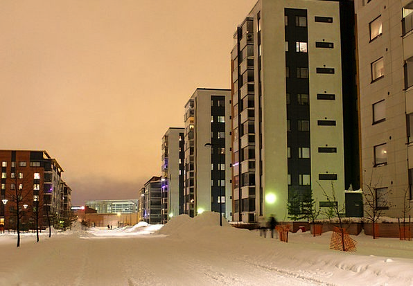 Oulu Buildings Architecture Winter Season Finland