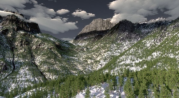 Mountain Scenery Landscapes Crags Nature Digital A