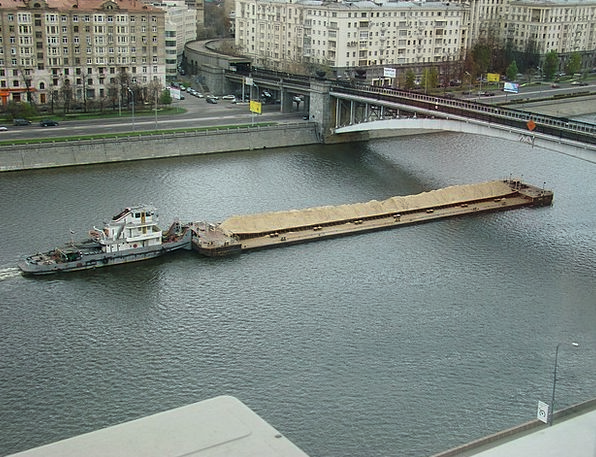 River Stream Dock The Moscow River Quay Barge Rush