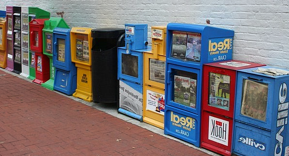 Newspapers Journalists Leaflets Vending Machines P