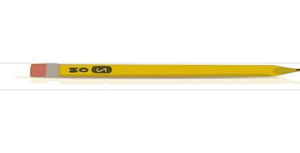 Pencil Script Write Inscribe Writing Eraser Yellow