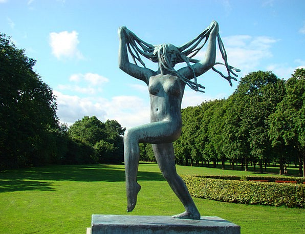 Vigeland Females Young New Women Oslo Statue Dance