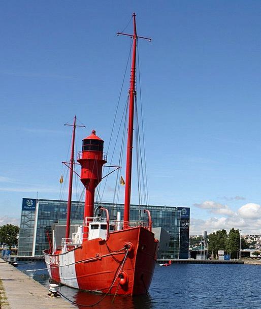 Lightship France Le Havre Ship Vessel Water Boot C