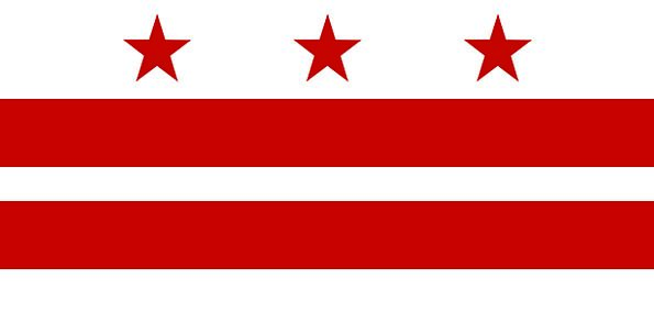 Flag Standard District Of Columbia Washington Dc F