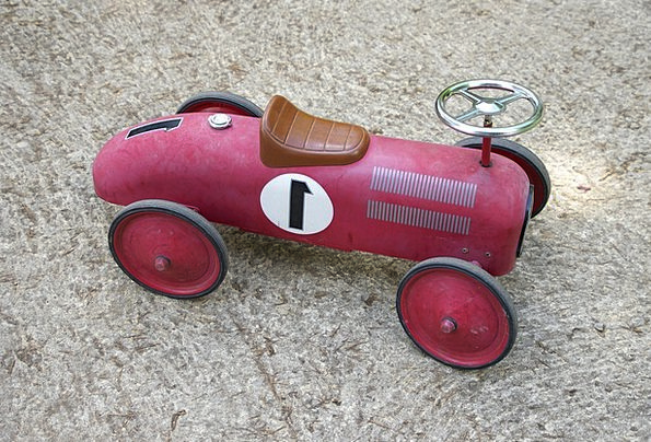 Toy Doll Traffic Carriage Transportation Red Blood