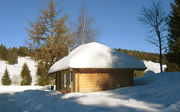 Hut Shed Landscapes Rooftop Nature Winter Season R