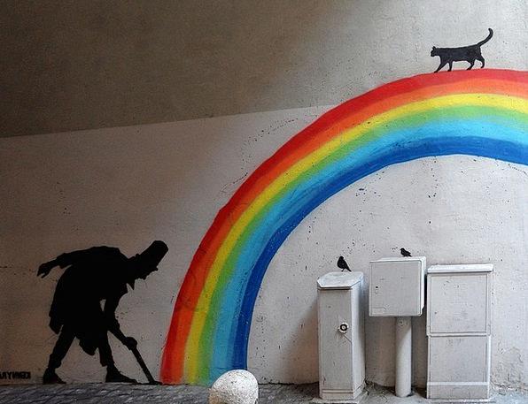 Rainbow Multicolored Buildings Urban Architecture